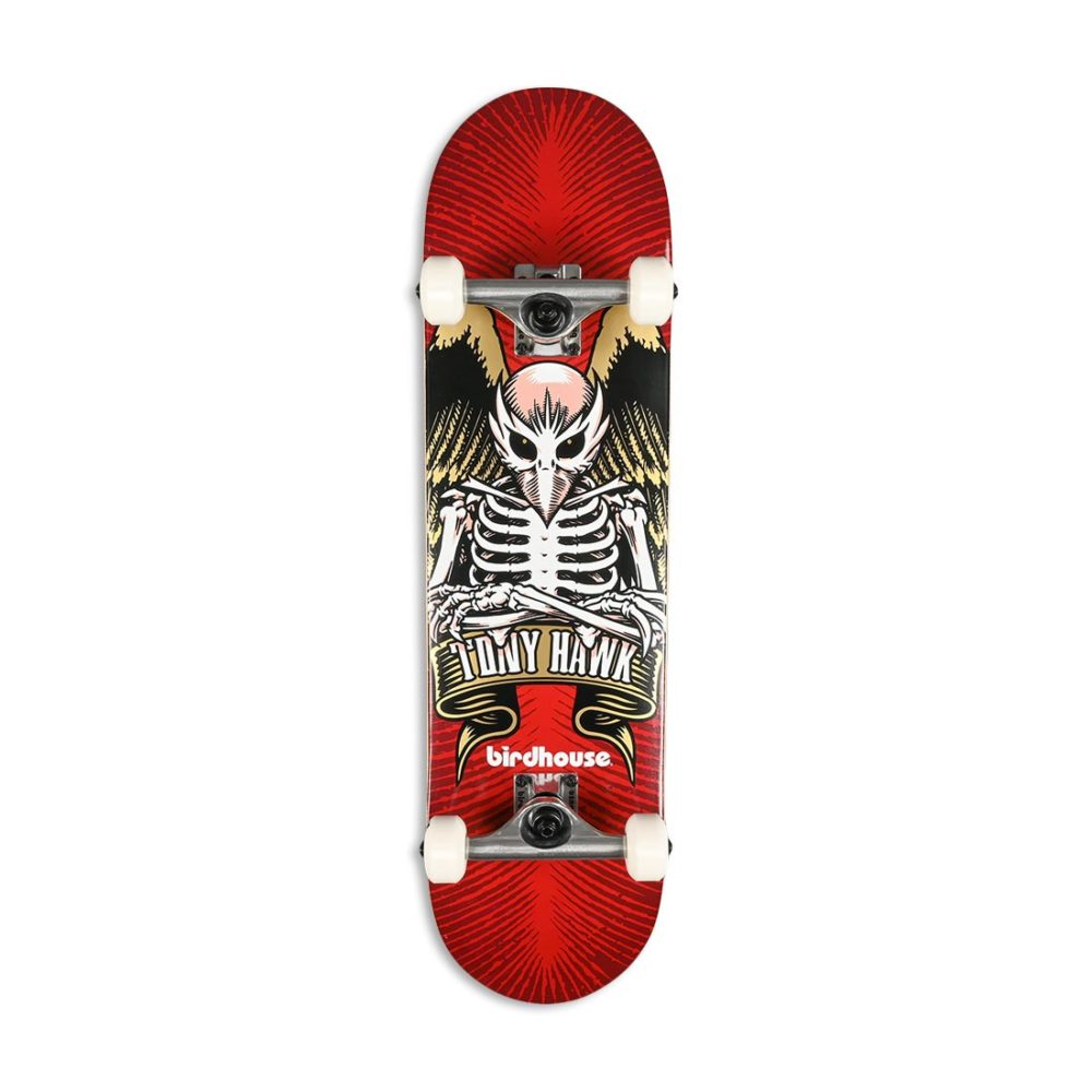 "Birdhouse Tony Hawk Icon 8"" Complete Skateboard - Red"