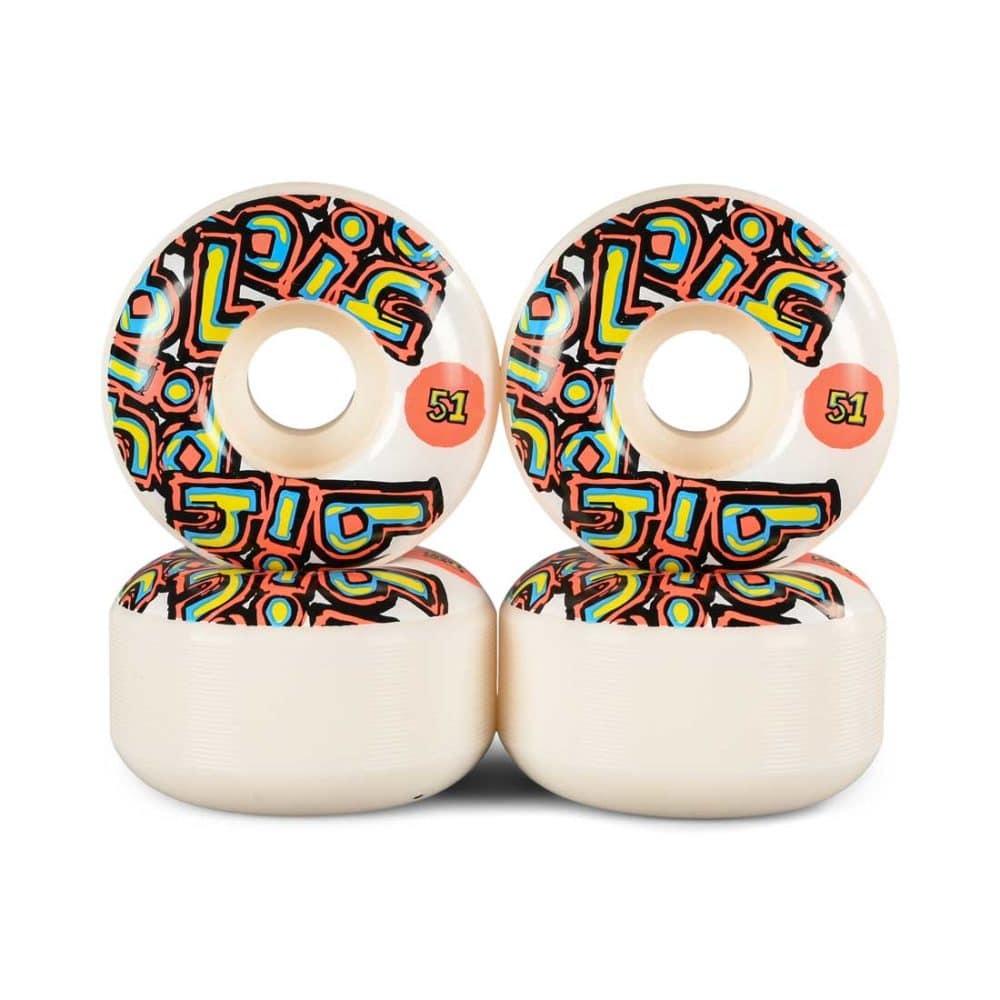 Blind OG Stacked 51mm Skateboard Wheels - White