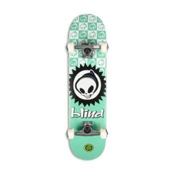 "Blind Checkered Reaper FP 7.375"" Complete Skateboard - Teal"