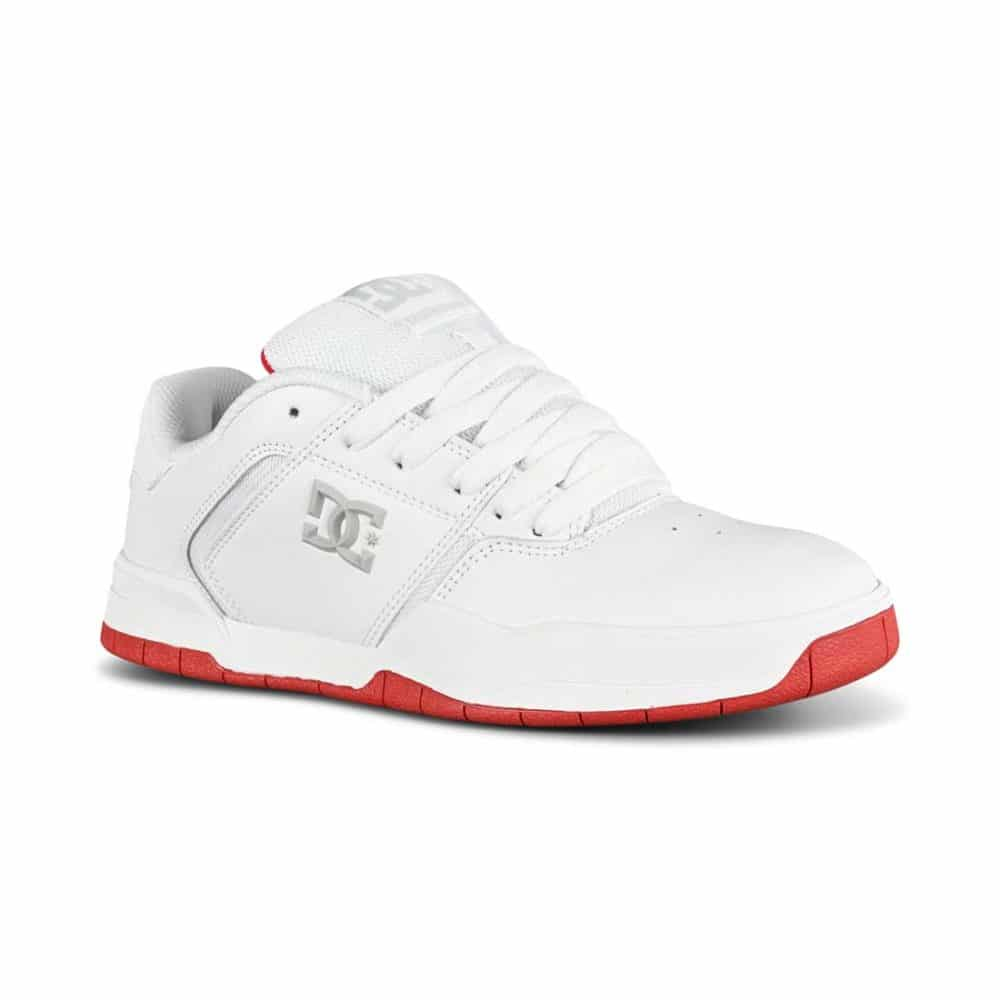 DC Central Skate Shoes - White/Red