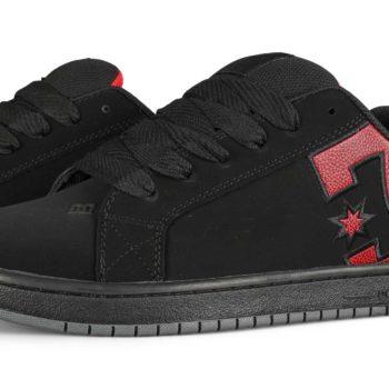 DC Court Graffik Skate Shoes - Black/Red Print