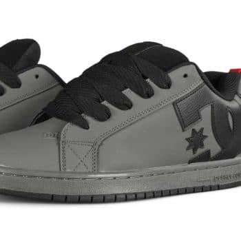 DC Court Graffik Skate Shoes - Grey/Black/Red