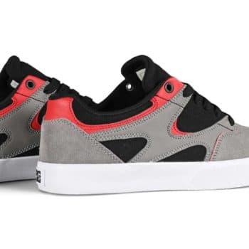 DC Kalis Vulc Skate Shoes - Black/Grey/Red