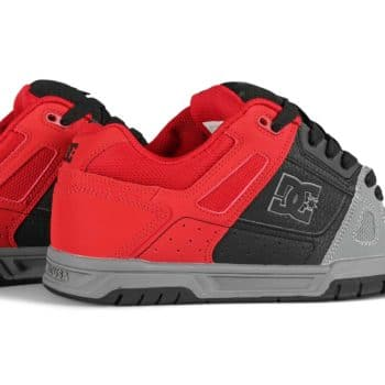 DC Stag Skate Shoes - Red/Black/Grey