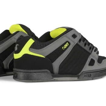 DVS Celsius Skate Shoes - Black/Charcoal/Lime Nubuck