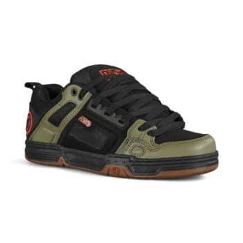DVS Comanche Skate Shoes - Black/Olive/Orange Nubuck