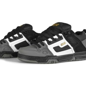 DVS Comanche Skate Shoes - Black/White/Charcoal Nubuck