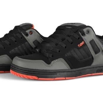 DVS Enduro 125 Skate Shoes - Black/Charcoal/Orange Nubuck