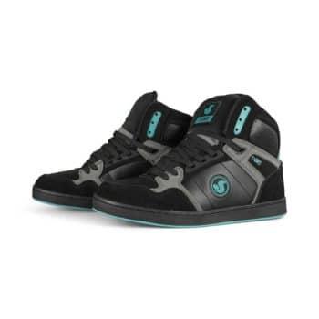 DVS Honcho High-Top Skate Shoes - Black/Charcoal/Turquoise