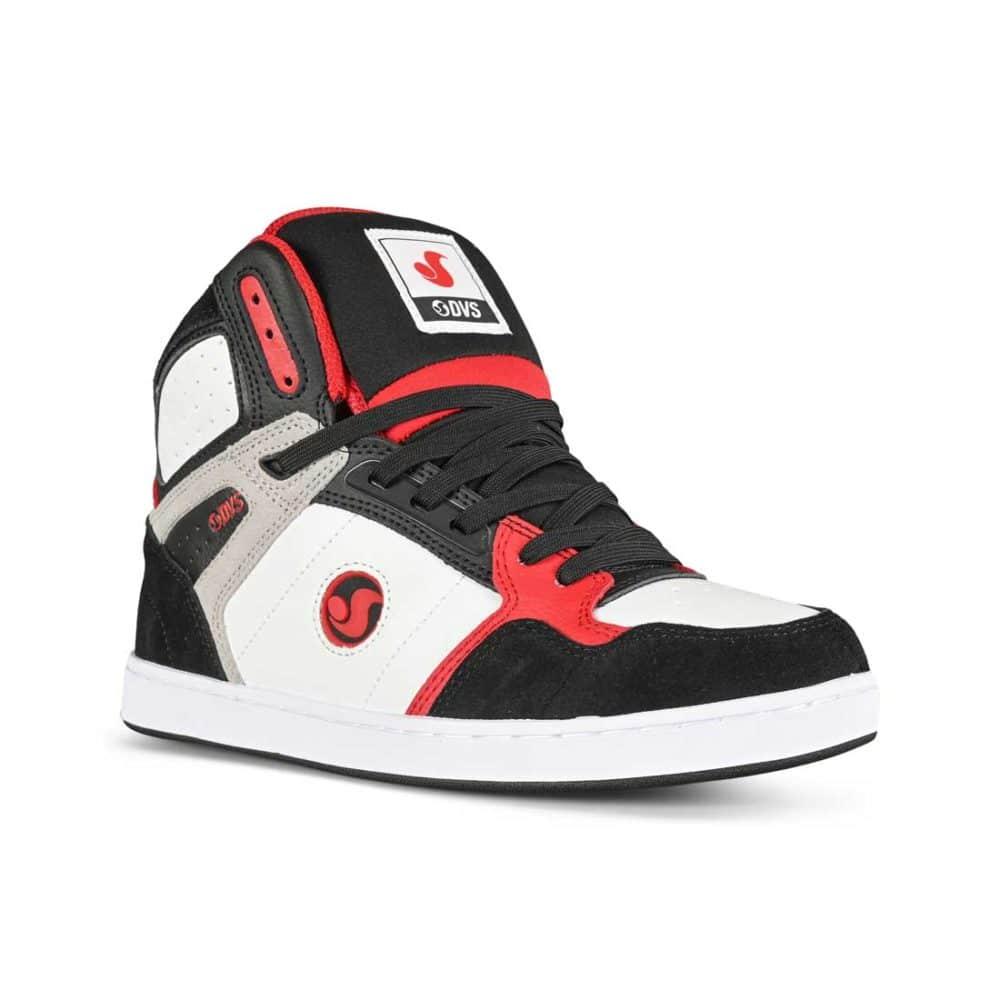 DVS Honcho High-Top Skate Shoes - White/Black/Red