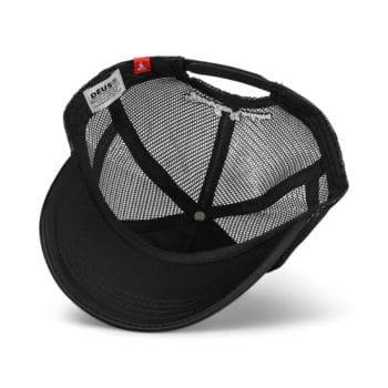 Deus Ex Machina Amsterdam Address Mesh Back Trucker Cap - Black