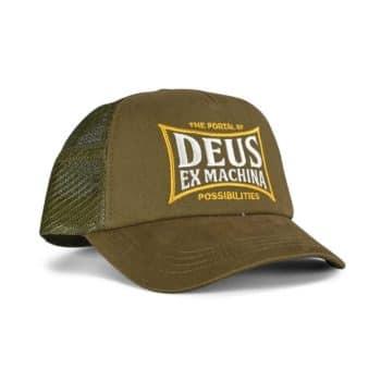 Deus Ex Machina Twinbox Trucker Cap - Bark Brown