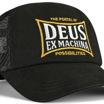Deus Ex Machina Twinbox Trucker Cap - Black