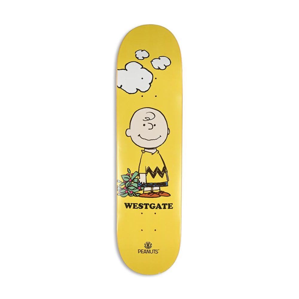 "Element Peanuts Charlie x Brandon Westgate 8"" Skateboard Deck"