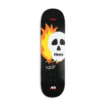 "Enjoi Skulls & Flames HYB 8.5"" Skateboard Deck - Black"