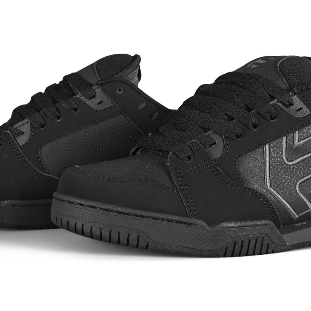 Etnies Men/'s Faze Low Top Sneaker Shoes Black Dirty Wash Footwear Skateboardi...