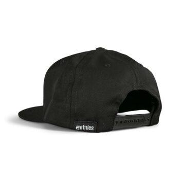 Etnies Icon Snapback Cap – Black/Black
