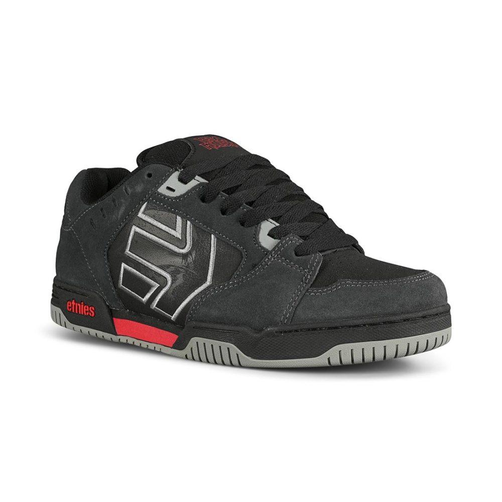Etnies Metal Mulisha Faze Skate Shoes - Dark Grey/Black/Red