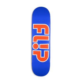 """Flip Team Outlined 8.25"""" Skateboard Deck - Blue"""