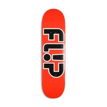 """Flip Team Outlined 8"""" Skateboard Deck - Red"""
