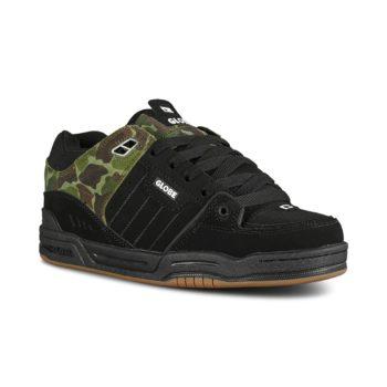 Globe Fusion Skate Shoes - Black / Green Camo
