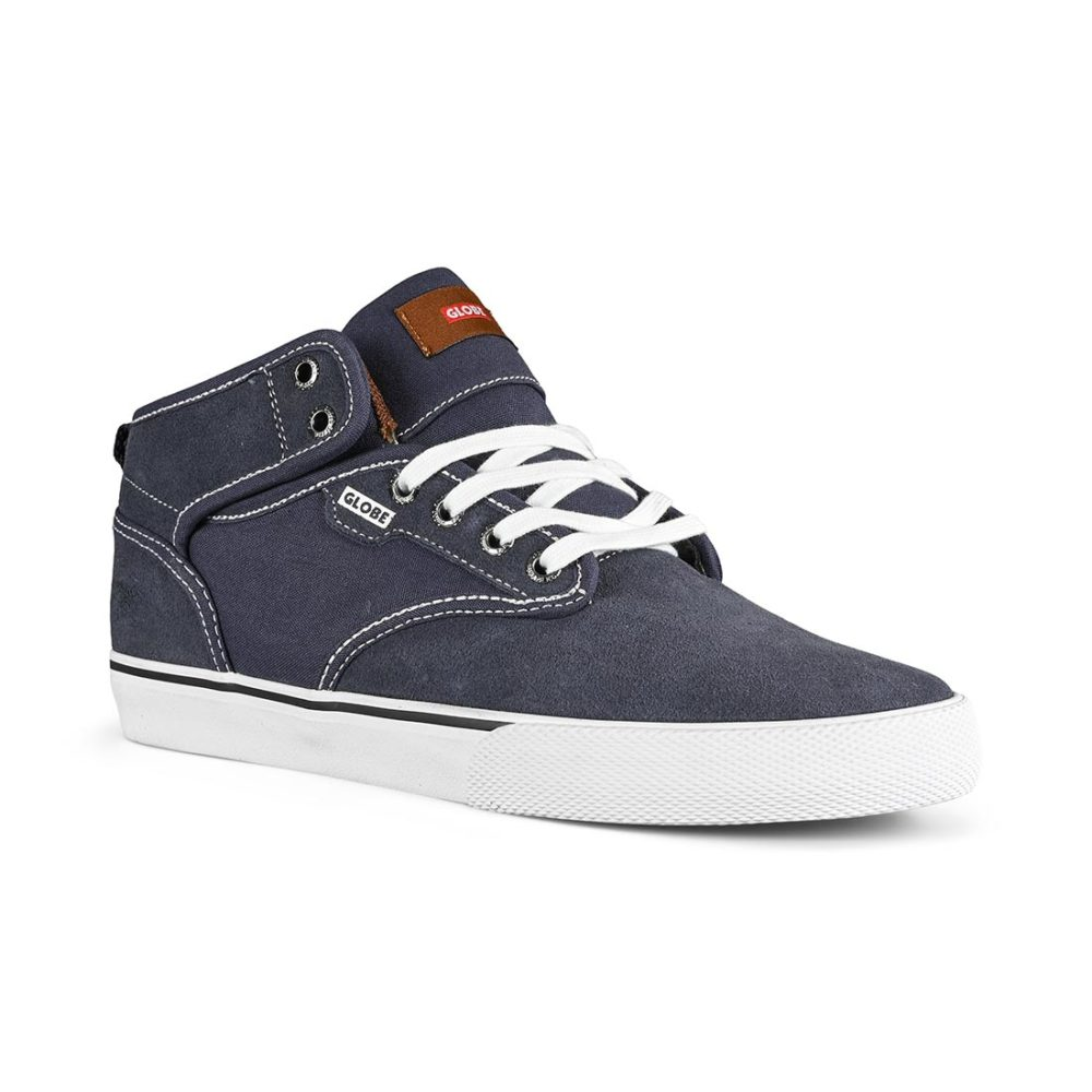 Globe Motley Mid Skate Shoes - Midnight / White