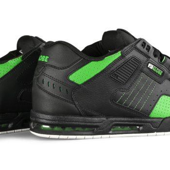 Globe Sabre Skate Shoes - Black / Moto Green