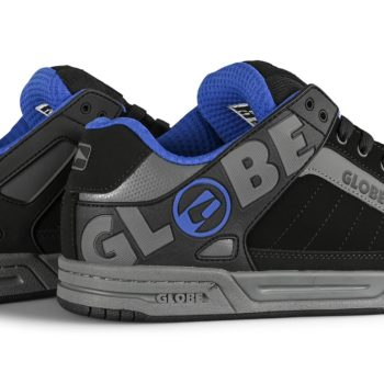 Globe Tilt Skate Shoes - Black/Carbon/Blue