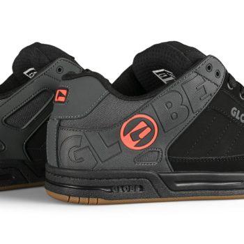 Globe Tilt Skate Shoes - Black Split/Orange