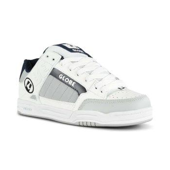 Globe Tilt Skate Shoes - White/Grey/Navy