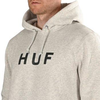HUF Essentials OG Logo Pullover Hoodie - Athletic Heather