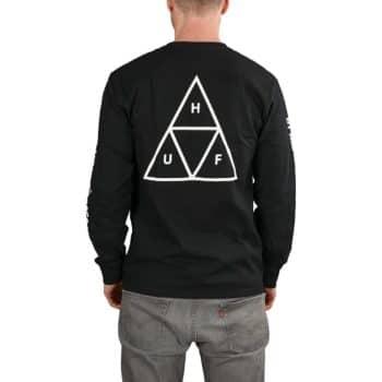 HUF Essentials TT L/S T-Shirt - Black