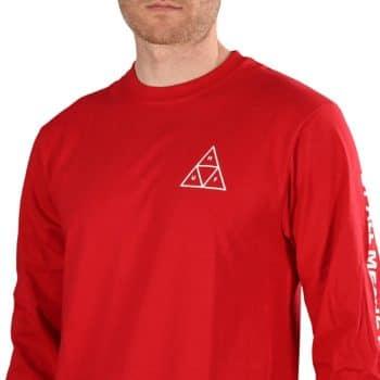 HUF Essential TT L/S T-Shirt - Red