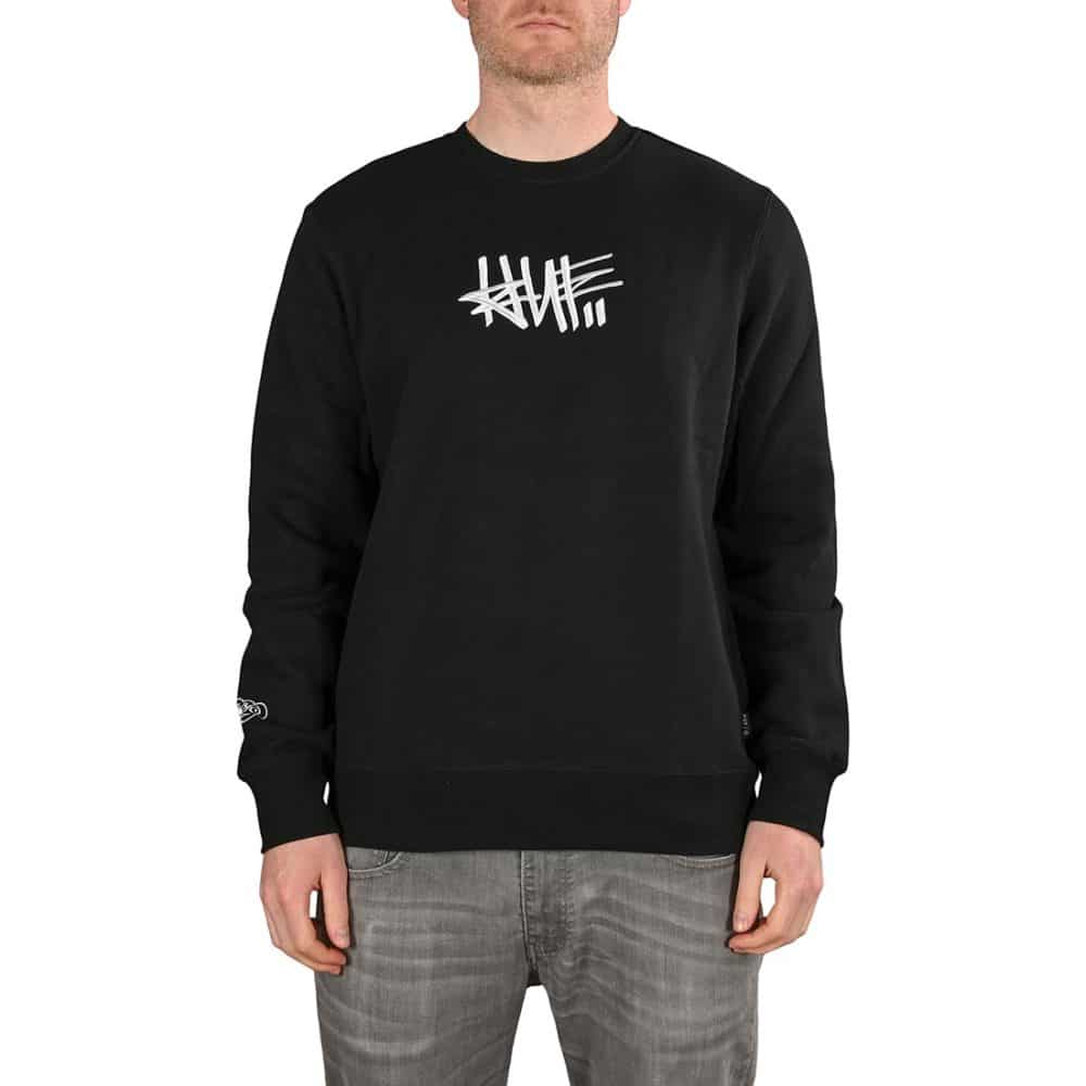 HUF x Haze Handstyle 1 Crewneck - Black