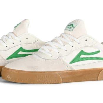 Lakai Cambridge Skate Shoes - White/Grass