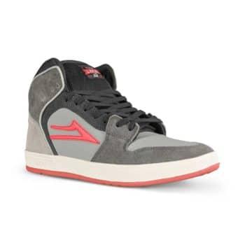 Lakai Telford High Top Skate Shoes - Grey/Coral Suede