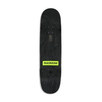 "Madness Back Hand R7 8.375"" Skateboard Deck - Bronze Foil"