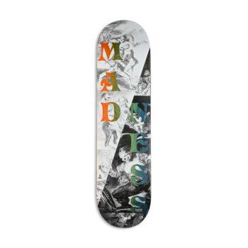 """Madness Split Overlap R7 8"""" Skateboard Deck - Black/White"""
