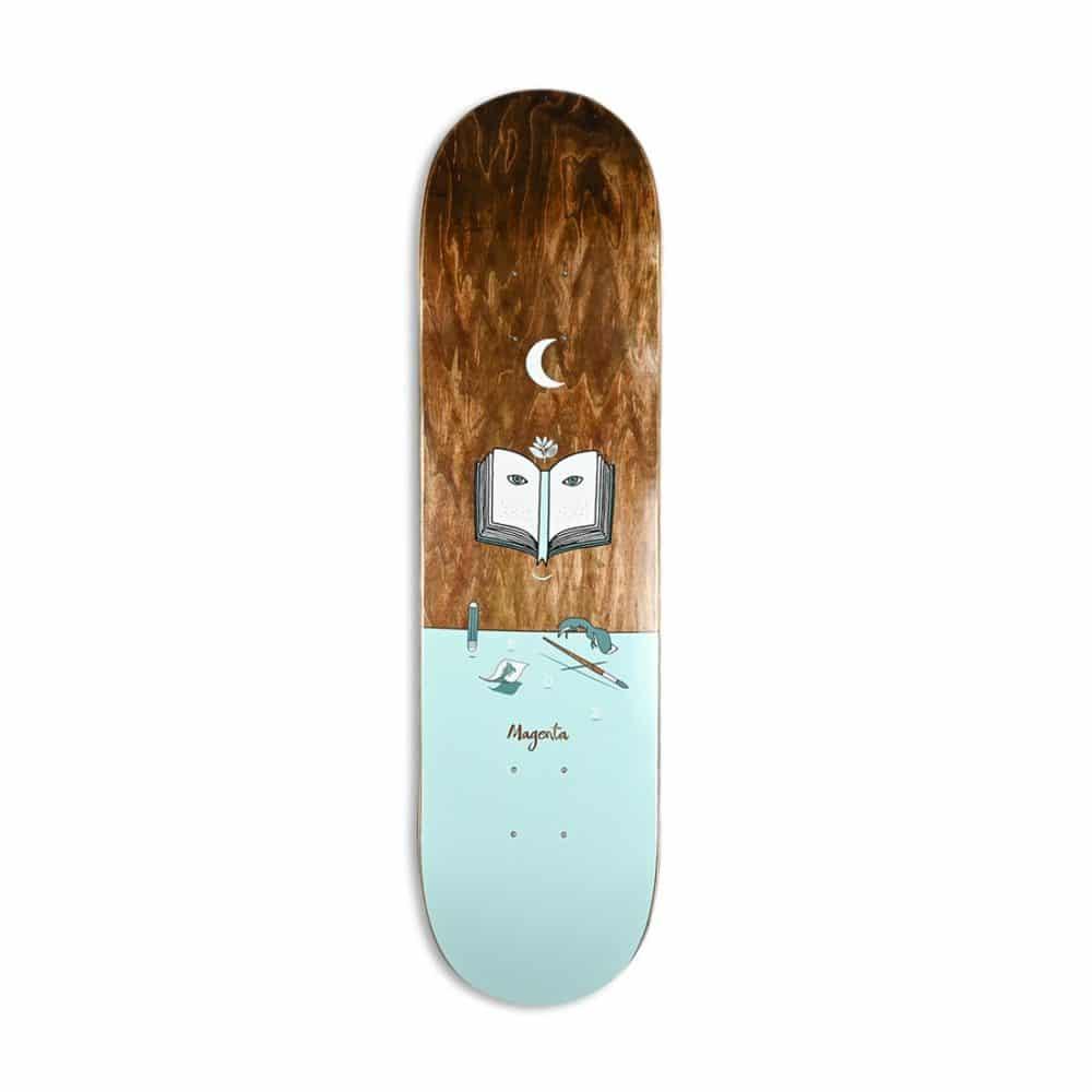 Magenta Glen Fox Landscape Skateboard Deck