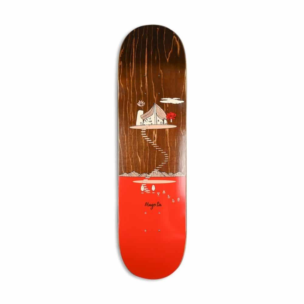 Magenta Leo Valls Landscape Skateboard Deck