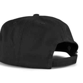 Magenta Plant Logo 6 Panel Hat - Black