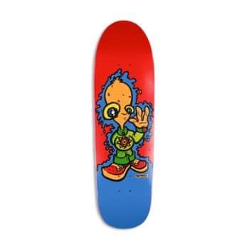 """New Deal John Montessi Alien 8.875"""" Reissue Skateboard Deck - Red"""