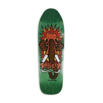 """New Deal Mike Vallely Mammoth 9.5"""" Reissue Skateboard Deck - Green"""