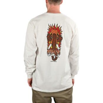 New Deal Vallely Mammoth L/S T-Shirt - White