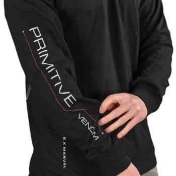 Primitive Skateboards Marvel x Paul Jackson Venom L/S T-Shirt - Black