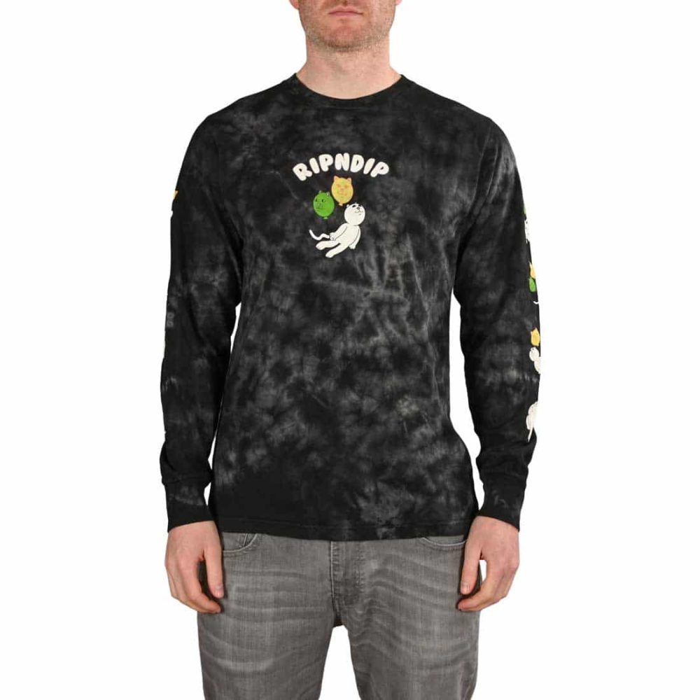 RIPNDIP Drifting Away L/S T-Shirt - Black Lightening Wash