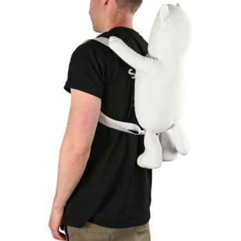 RIPNDIP Lord Nermal Plush Backpack - White