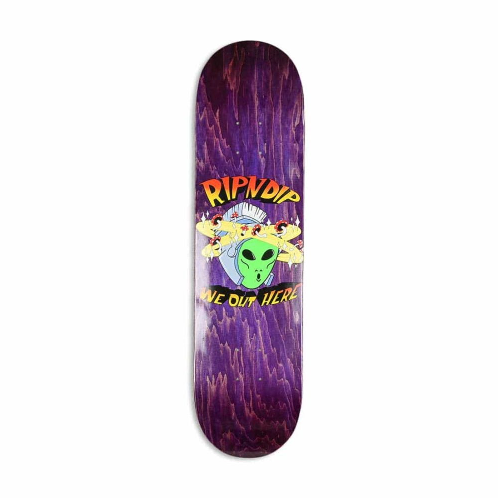 RIPNDIP Out Of This World Skateboard Deck - Purple