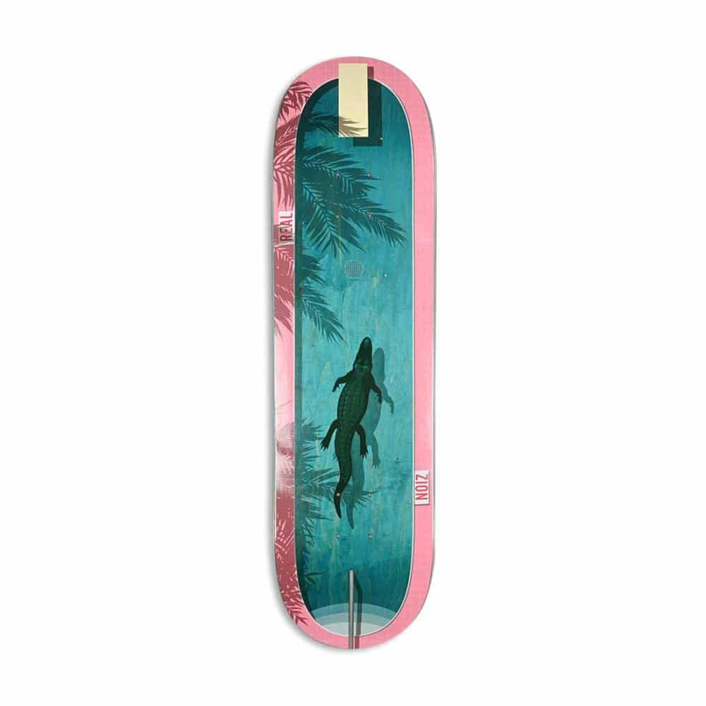 """Real Zion Wright Dive In 8.5"""" Skateboard Deck - Blue/Pink"""