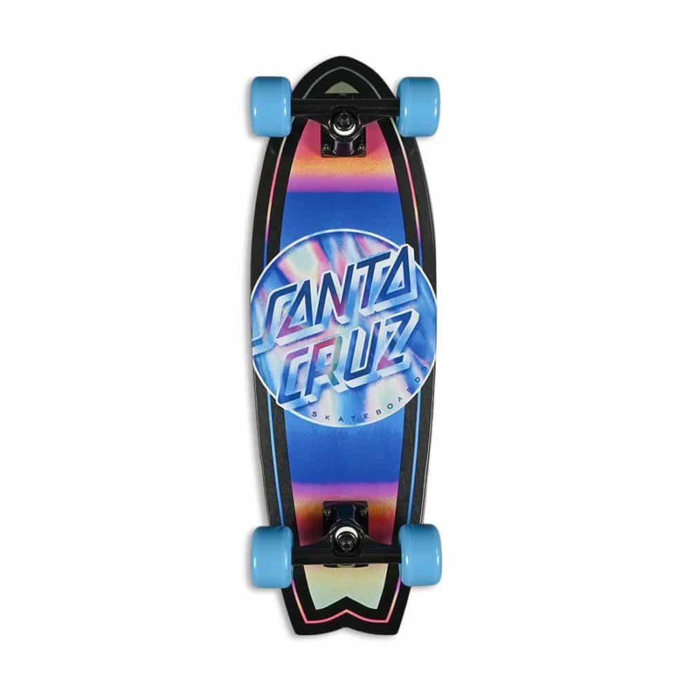 """Santa Cruz Iridescent Dot 27.7"""" Cruiser Skateboard - Shark Blue"""